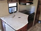 Kitchen Counter Top, Sink, Range Hood, Stove, Oven