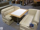 Flexsteel Custom-made Dinette Booth With Removable Oak Table
