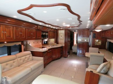 2012 Allegro Bus 40QBP Lounge & Galley View From Drivers 6-way Adjustable Captains Chair