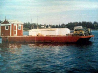 Corten Steel 20' x 52' Barge, 52', for sale - $49,000